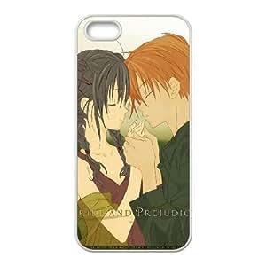 Pride And Prejudice Boy Girl Tenderness Love Touch 24936 funda iPhone 5 5s caja funda del teléfono celular del teléfono celular blanco cubierta de la caja funda EEECBCAAL17671