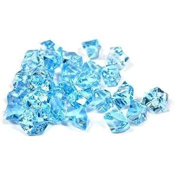 Amazon 2 Pounds Of Blue Acrylic Ice Rock Vase Gems Or Table