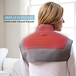Venture Heat Infrared Heating Pad for Neck and Shoulder Pain - Electric Heat Wrap Brace for Pain Relief, Muscle Injury, Cramps, Joint Stress