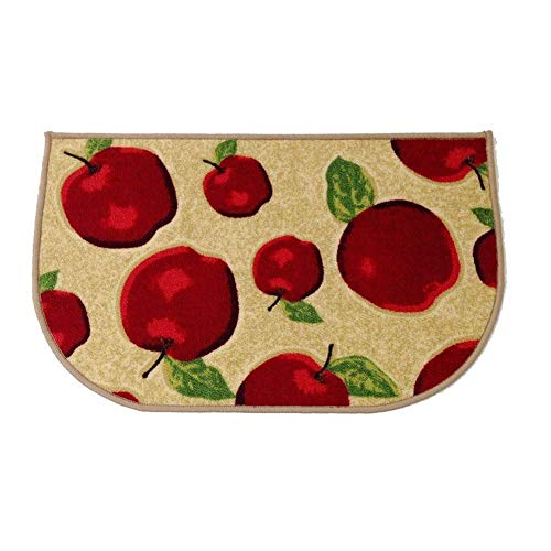 (HIGOGOGO Red Apple Kitchen Area Rugs Mats, D-Ring Non-Slip Rubber Backing Floor Rug and Carpet Kitchen Room Decor, Machine Washable Bathroom Rugs Doormat Foot Pads, 20