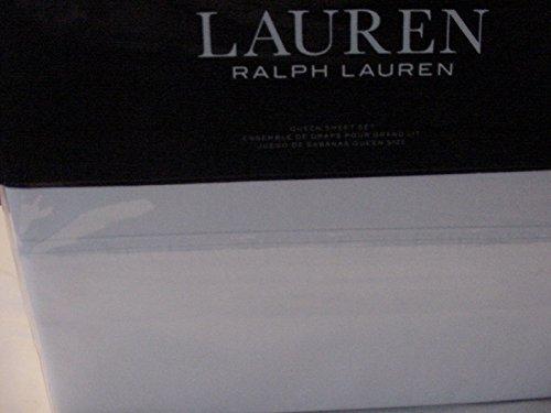 Ralph Lauren Queen Flat Sheet - Ralph Lauren Landon Washed Percale White Sheet Set Queen