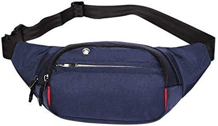 Wenzhihua Hombres Mujeres Camping Oxford Fanny Pack Bolso Negro de la Cintura Que va de excursión