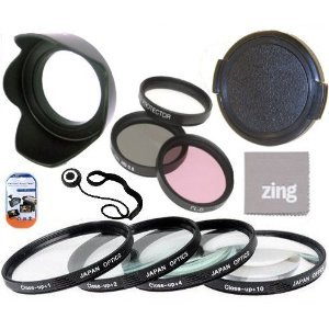 58mm Multi-Coated 7 Piece Filter Set Includes 3 PC Filter Kit (UV-CPL-FLD-) And 4 PC Close Up Filter Set (+1+2+4+10) For Olympus M.Zuiko 40-150mm f/4.0-5.6 R Micro ED Digital Zoom Lens + Hard Tulip Lens Hood+ Lens Cap + Cap Keeper + MicroFiber Cleaning Cloth + LCD Screen Protectors ()