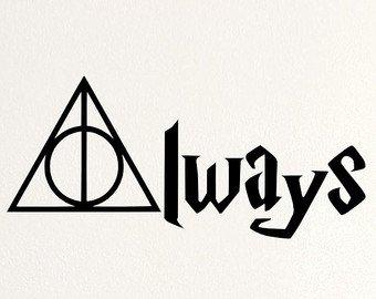 Adesivo, motivo: Deathly Hallows Always, colore: nero StickerStop