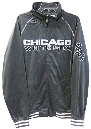 VF Imagewea Chicago White Sox Home Field Track Jacket Charcoal Men's Big & Tall Sizes (MT)