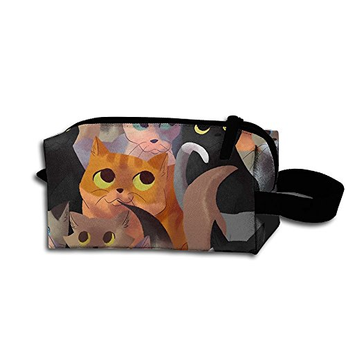 Lotsa Cats Cosmetic Bag Fashion Makeup Bags Travel Case With Handle