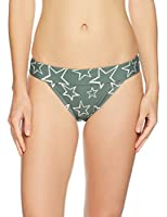 Mae Women's Swimwear Banded Cheeky Bikini Bottom,Stars Print,Small