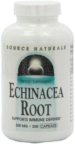 Source Naturals Echinacea Root 500mg, 200 Capsules