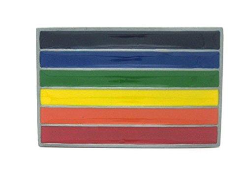 Gay Pride Rainbow Flag Belt Buckle Patch Nation