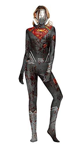 Sexiest Scary Halloween Costumes - Apiidoo Skeleton Jumpsuit Catsuit Halloween Scary