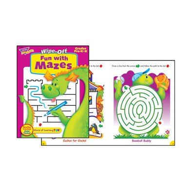 Fun with Mazes Wipe off Book [Set of 2]