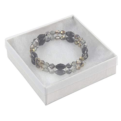 View-top Cotton Filled Jewelry Box #33 (Pack of 20) ()
