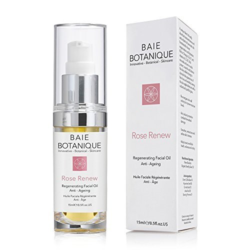 Rose Regenerating Facial Oil Anti-Aging with Rosehip Seed, Camelia, Borage, Evening Primrose. Rich in Omega's 3, 6, 9, and Vitamins A, C & E. 90% organic 100% natural.