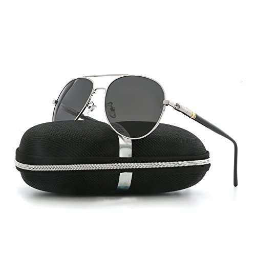 Aviator Sunglasses for Men Women Polarized VOPOLAR Metal Frame UV400 - Aviator Small Sunglasses