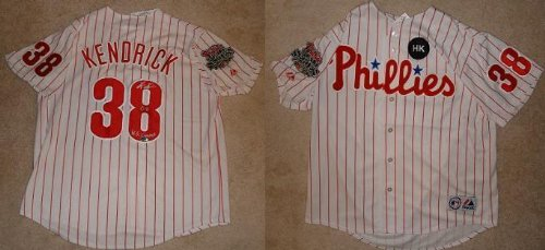 Kyle Kendrick Signed Phillies World Series Jersey Mlb Inscribed 08 Ws Champ Coa