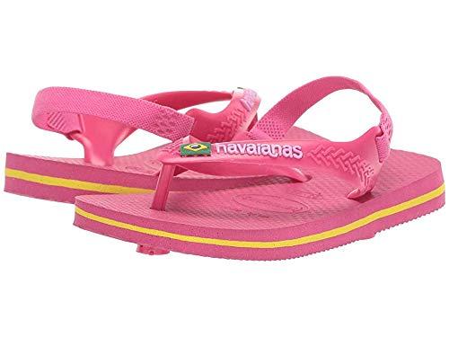 Infant//Toddler Brazil Logo with Backstrap Havaianas Kids Flip Flop Sandal