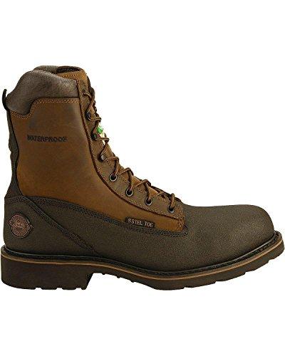 Justin Mens Tec-Tuff Lace-Up Work Boot Steel Toe Black 7 D(M) US LKF33