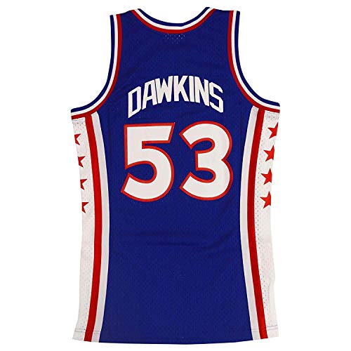 (Mitchell & Ness Philadelphia 76ers Darryl Dawkins Throwback Swingman Jersey Blue (Small))