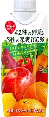 スジャータ めいらく 42種の野菜と3種の果実100% 330ml×12本(1ケース)