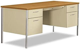 product image for HON 34962CL 34000 Series Double Pedestal Desk, 60w X 30d X 29 1/2h, Harvest/putty