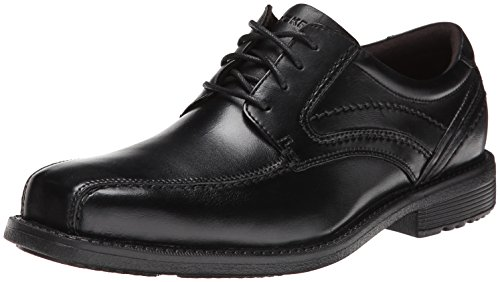 Rockport Men's Style Leader 2 Bike Toe Oxford Black Waxed Calf 12 W (EE)-12 W (Fan Leader)