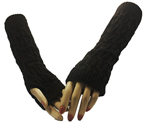 Fashion Dimensions Brown Paths Arm Warmer Gloves