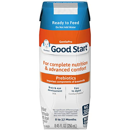 Gerber Good Start Gentle Non-GMO Ready to Feed Infant Formula Stage 1, 8.45 Ounce (Pack of 24) (Best Way To Soothe A Baby)