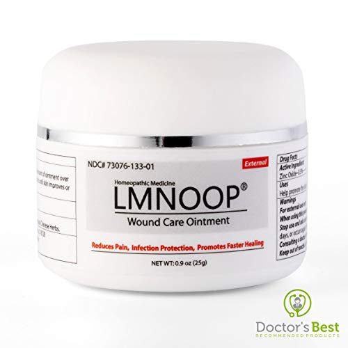 LMNOOP® Wound Care - Bed Sore Cream, Organic Bedsore Ointment, Bed Sores Treatment, Faster Wound Healing & 24 hr Infection Protection Medication for Bedsores, Pressure Sores, Diabetic & Venous Ulcers