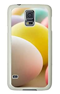 Samsung Galaxy S5 Case and Cover - Colorful Easter Eggs PC Hard Case Cover for Samsung Galaxy S5 White