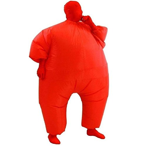 Fat Air Suit Costume (Air Blown Adult Inflatable Chub Suit Full Body Costume Fat Air Suit Blow Up Jumpsuits Fancy Dress Halloween Christmas Party)