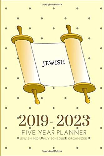 2019-2023 Five Year Planner Jewish Monthly Schedule ...