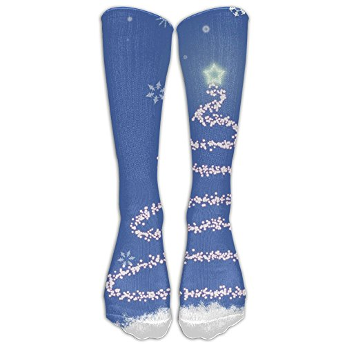 One Starry Christmas Reviews - Shiny Christmas Trees Starry Sky Womens Mens Funny Athletic Long High Stockings