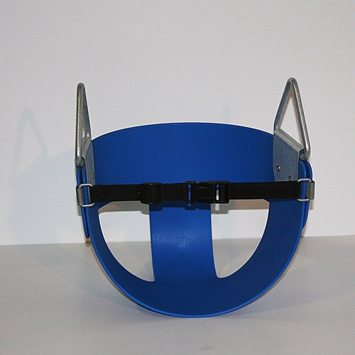 Half Bucket Belted Toddler Swing (No Chain or Rope) - Blue -