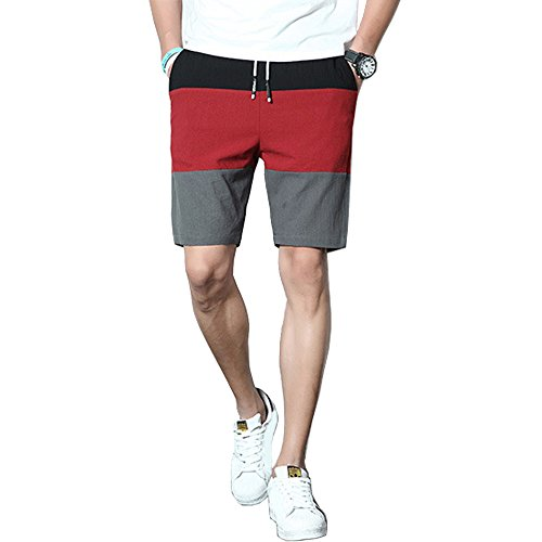 mouzzy Mens Stripe Beach Shorts Trunks Quick Dry Casual Swim Shorts