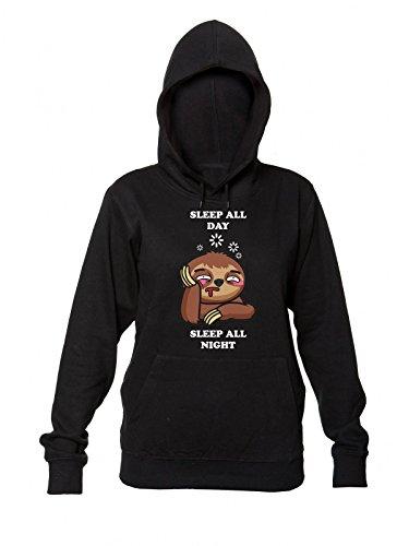 Donna Sleep Night All da Women's Always Hooded Cappuccio All con Sloth Sweatshirt Tired Sleep Day Felpa IxwBaq7I