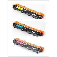SaveOnMany ® 3 pack Brother TN-225 TN225 C/M/Y (TN221/ TN-221 series) New Compatible TN225M Magenta/TN225Y Yellow/TN225C Cyan Toner Cartridge combo For DCP-9020CDN HL-3140CW HL-3150CDN HL-3170CDW HL-3180CDW MFC-9130CW MFC-9330CDW MFC-9340CDW