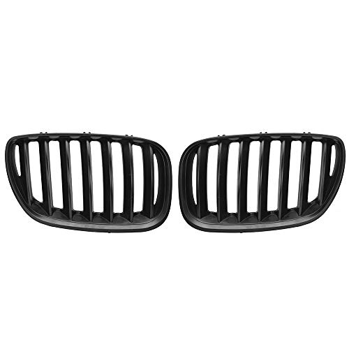 XSPANDER 1 Pair Front Center Kidney Grille Grilles Grill for 2004 2005 2006 BMW E53 X5 X 5 LCI Facelift - Euro Sport Utility 4-Door, Matte Black
