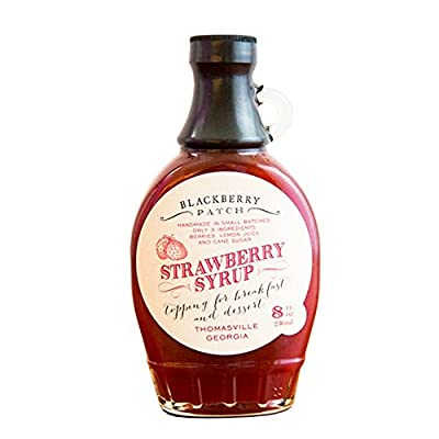 Strawberry Syrup 3 Ingredients - Blackberry Patch 8 oz Bottle – Oprah's Favorite Things 2014, Small Batch & Handmade in Georgia, Perfect on Pancakes, Waffles & French Toast, Great Dessert Topping!