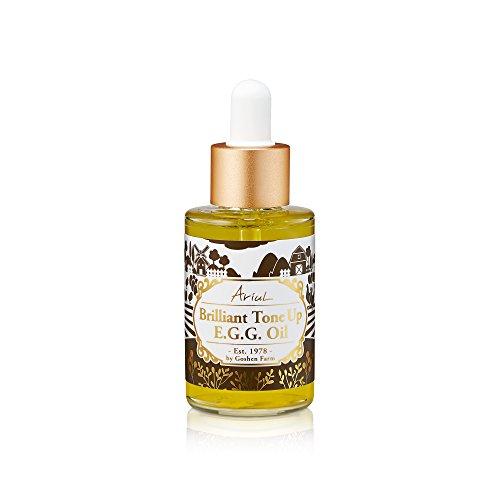 Ariul Face Facial Organic Egg Yolk Oil, Brilliant Tone Up E.G.G. Oil 1.35 fl. oz. Natural Lecithin & Vitamin E to Reduce Blemishes & Dark Spot, Brighten, Hydrate, Regenerate, Repair & Protect