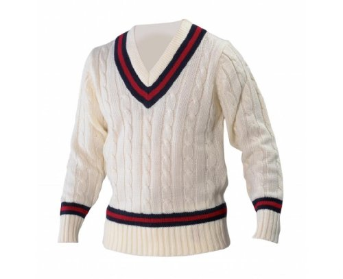 Men's Vintage Style Sweaters – 1920s to 1960s Gray Nicolls Bottle/Gold Cricket Sweater $33.11 AT vintagedancer.com