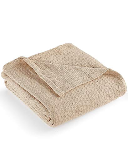 Lauren Ralph Lauren Classic Cotton Bed Blakets (Khaki, Full/Queen) (Lauren Quilts Ralph)