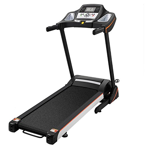 Hindom Foldable Treadmill, Portable Electric Motorized Running Machine for Home Office Fitness (US STOCK) (Black)
