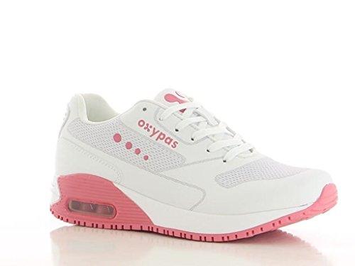 Infirmiere Antidérapante Sneaker Semelle Oxypas Blanc Avec ZFqRcw5