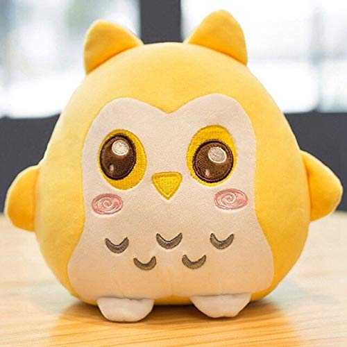 MANGMOC Cartoon Owl Plush Toy 6 Color Expression Pack Plush Pillow Doll Child Birthday Gift Girlfriend Valentine's Day Pillow Doll Thing You Must Have Unique Gifts Girl S Favourite by MANGMOC