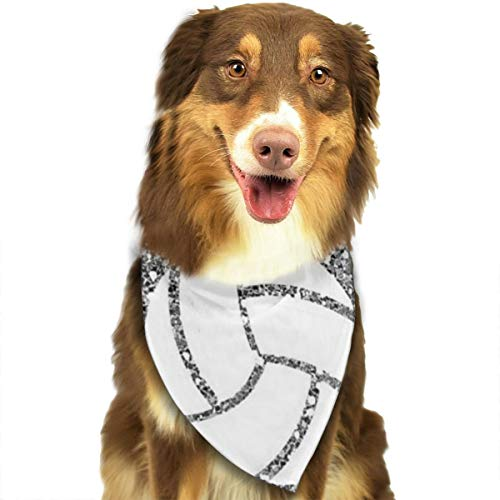 Pet Scarf Dog Bandana Bibs Triangle Head Scarfs Volleyball Picture Accessories for Cats Baby Puppy -