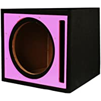 Absolute USA PSEB10P Single 10-Inch Ported Subwoofer Enclosure with Pink High Gloss Face Board