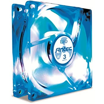 Amazon Com Antec Tricool 80mm Blue Led Cooling Fan With 3 Speed Switch Electronics