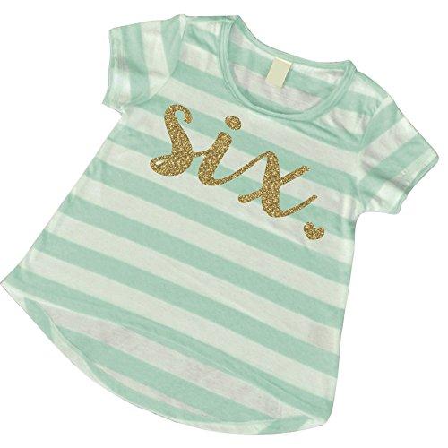 Sixth Birthday Girl Shirt, Girl Six Year Old Birthday Outfit, 6th Birthday Shirt (6T)