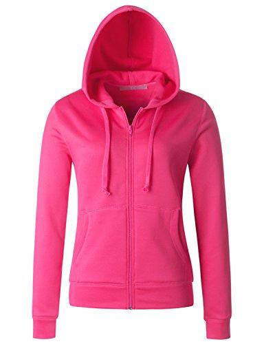 Regna X Womens Benton Springs Full Zip Fleece Hoodie Jacket Pink XXXL