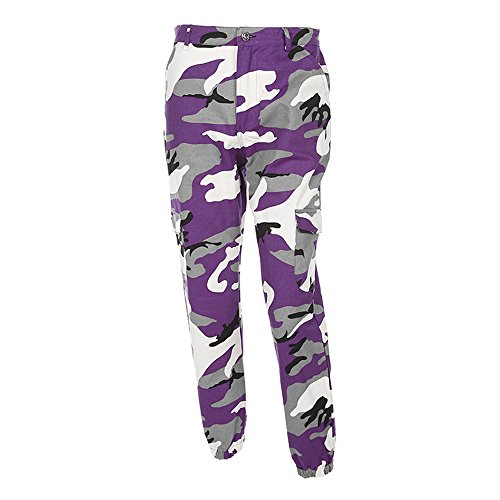 Women Camo Trouser Jogger Pants Plus Size Casual Cargo Hip Hop Rock Trousers